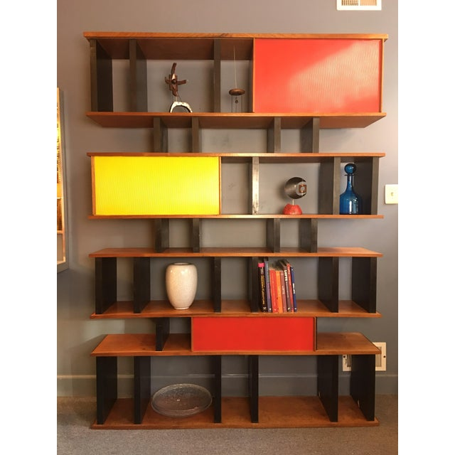 1990s Charlotte Perriand and Jean Prouve Style Shelving System For Sale - Image 5 of 13