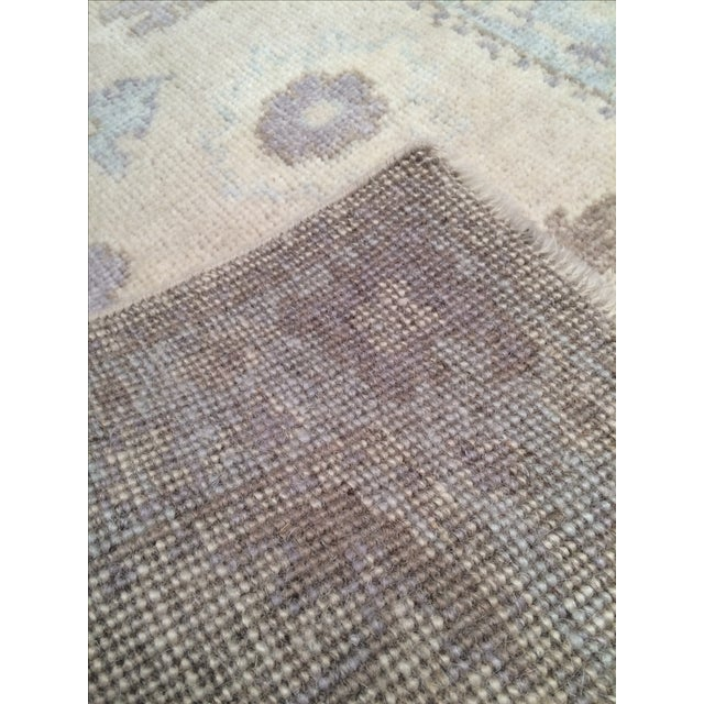 "Traditional Tan & Blue Oushak Rug - 2'1"" X 2'11"" For Sale - Image 3 of 3"