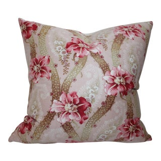 Vintage Floral Patterned Pillow For Sale