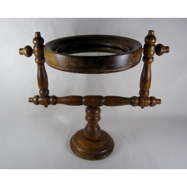 19th-C. French Gentleman's Barber Shop Shaving Mirror Stand - Image 3 of 8