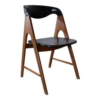 Small A Frame Scandinavian Modern Side Chair Manner of Kai Kristiansen Compass Chair For Sale
