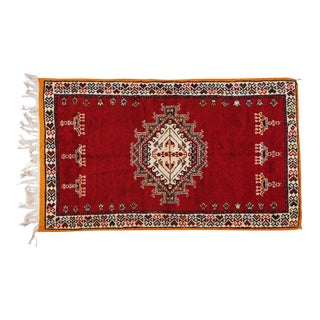 Berber Medium Rug - Handwoven Wool With Abstract and Geometric Elements For Sale