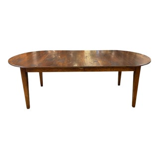 Early 20th Century Custom English Oak Extension Table For Sale