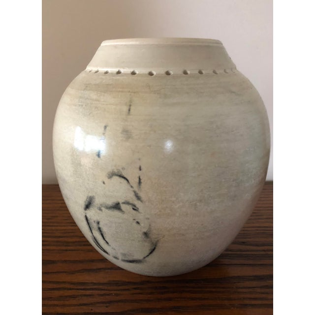 Contemporary Final Price! Ceramic Signed Pottery Vase For Sale - Image 3 of 8