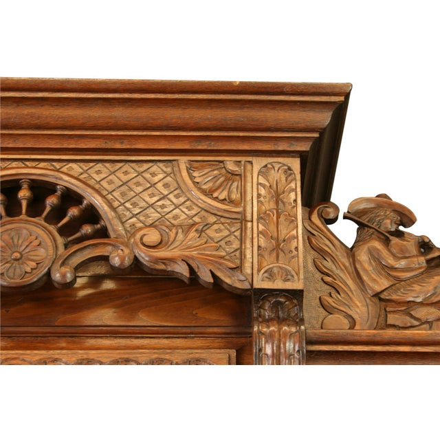 Antique Chestnut French Brittany Style Buffet For Sale - Image 7 of 8