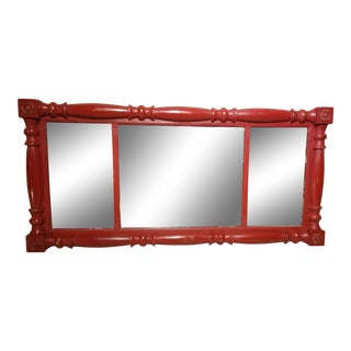 Federal Style Red Painted Mirror For Sale