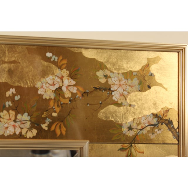 Gold La Barge Chinoiserie Style Mirror, Signed C. Adams For Sale - Image 8 of 13