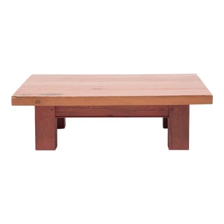 Chinese Rustic Plank Top Low Table For Sale