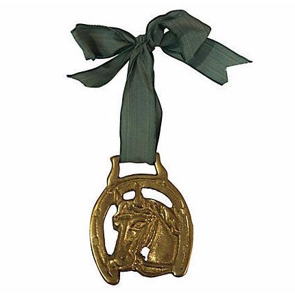 Antique English Lucky Horse Shoe Brass Ornament - Image 1 of 2