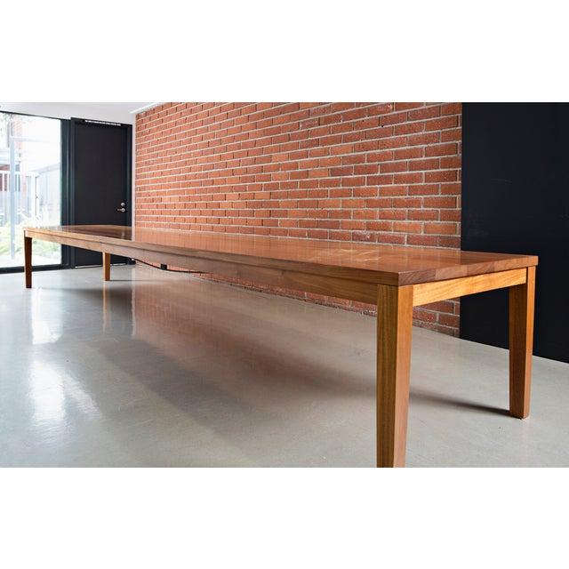 Custom Mahogany Dining Table - Image 2 of 3