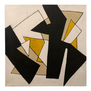 "Ilana Greenberg ""Modern Discourse"" Abstract Geometric Acrylic Painting For Sale"
