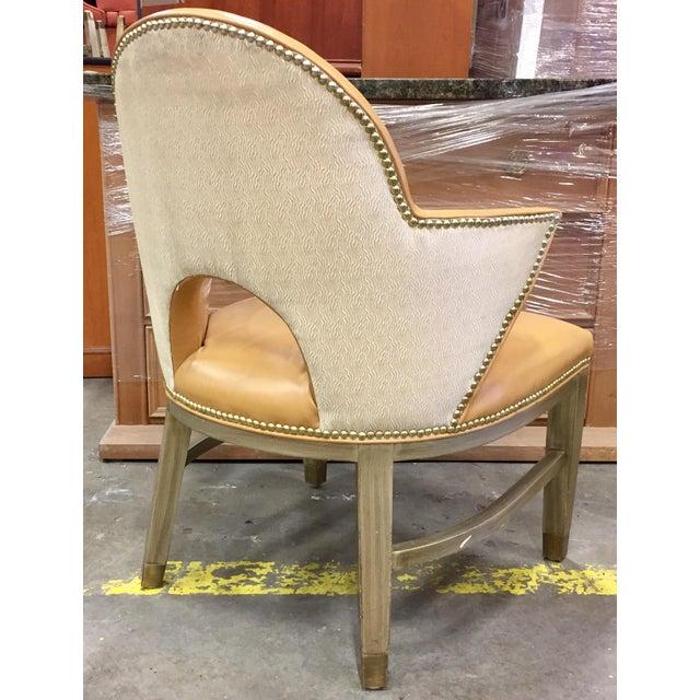 Custom Ordered Leather Nailhead Armchairs - Set of 6 - Image 6 of 11