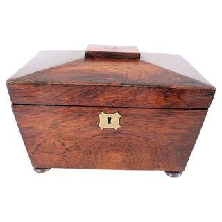 Antique Georgian English Tea Caddy - C. 1820 For Sale