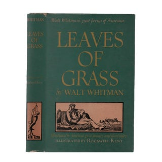 "1943 ""Leaves of Grass, Illustrated by Rockwell Kent"" Collectible Book For Sale"