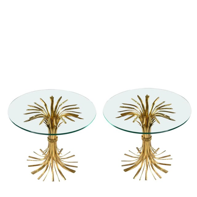 1960s 1960s Hollywood Regency Sheaf of Wheat Side Tables - a Pair For Sale - Image 5 of 5