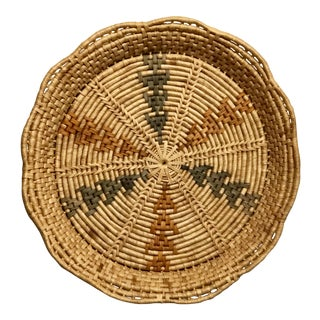 20th Century Southwestern Woven Basket For Sale
