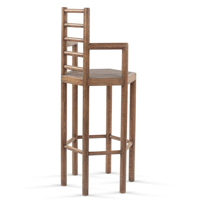 Tamarisk Bar Stool in Brown For Sale - Image 4 of 6