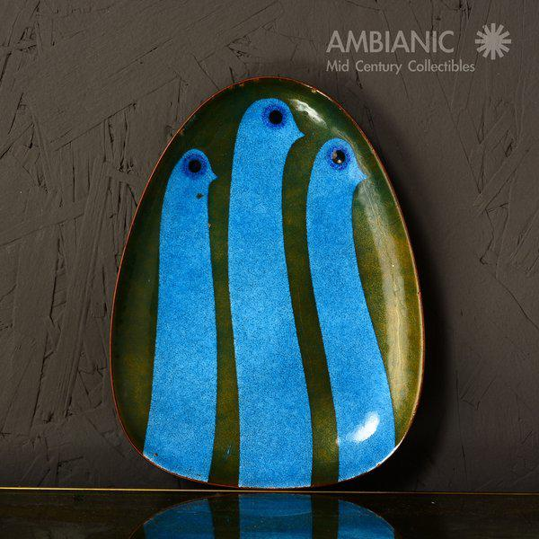 Miguel Pineda Enamel on Copper Oval Dish For Sale In San Diego - Image 6 of 9