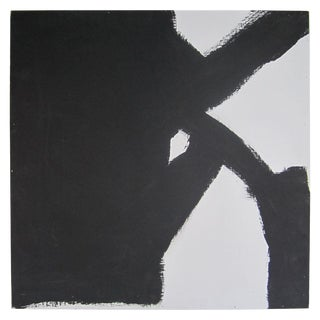 Abstract Black and White Artwork Painting For Sale