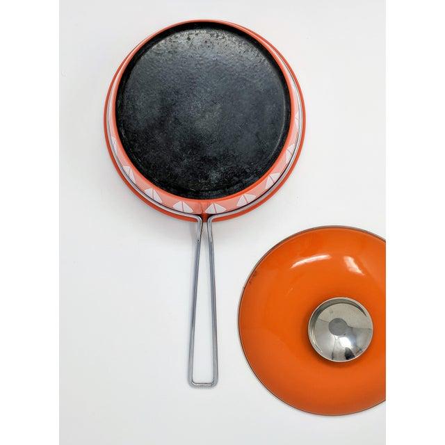1960s Scandinavian Modern Catherineholm Enamel Lotus Sauce Pan For Sale - Image 9 of 11