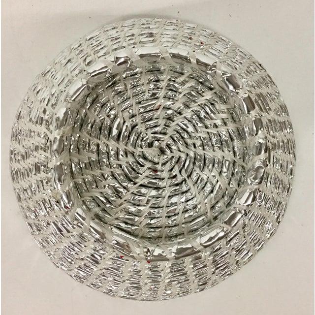 Modern Artisan Hand Woven Repurposed Plastic Basket For Sale - Image 10 of 11