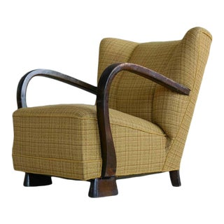 Danish Lounge Chair in the Style of Viggo Boesen, 1940s For Sale