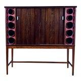 Image of 1960s Poul Heltborg Rosewood Bar Cabinet, Denmark For Sale