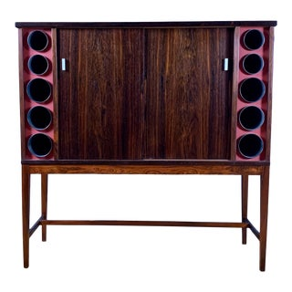1960s Poul Heltborg Rosewood Bar Cabinet, Denmark For Sale