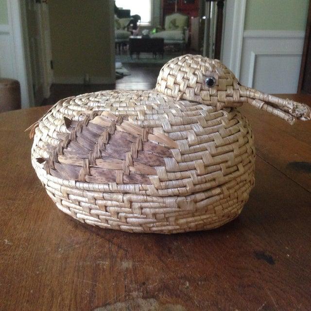 Vintage Natural Wicker/ Straw Bird Basket - Image 3 of 11