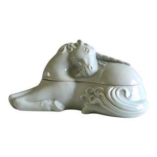 Ceramic Japanese Unicorn Covered Dish, Takahashi San Francisco For Sale