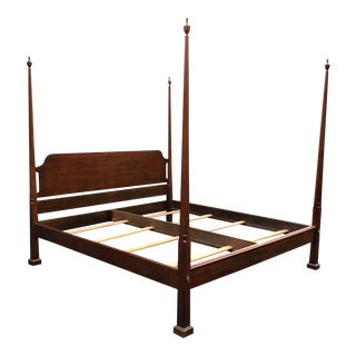 Henkel Harris Solid Black Cherry King Bed For Sale
