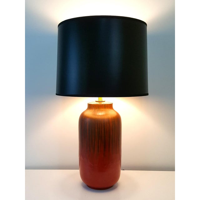 Mid-Century Alvino Bagni Red Italian Pottery Desk Lamp - Image 9 of 9