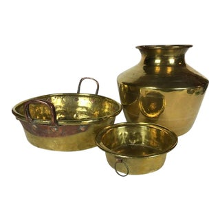 Hammered Copper & Brass Hand Forged Containers - Set of 4