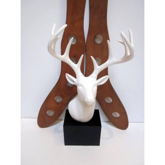 Faux White Reindeer Deer Antlers Bookshelf Decor - Image 10 of 11