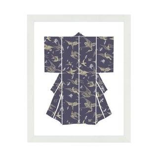 """Kimono-Chasing Birds"" Framed Wall Art"