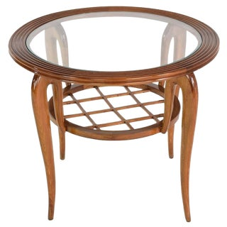 Italian Mid-Century Coffee Table Attributed to Poalo Buffa, 1950s For Sale