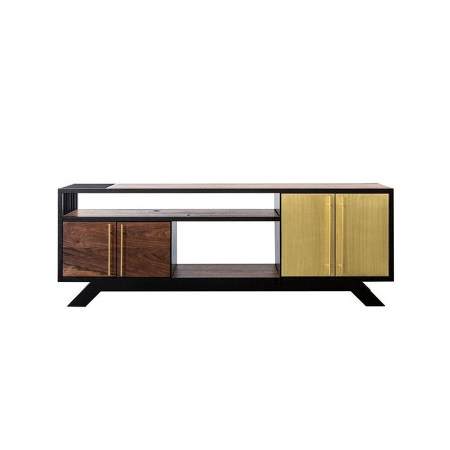 Foreman Brothers Design Lloyd Media Console For Sale - Image 4 of 6