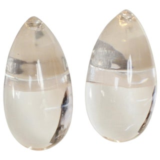 Patricia Von Musulin Lucite Clip Earrings For Sale