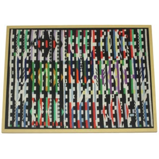 Agam-Style Tapestry in Frame For Sale