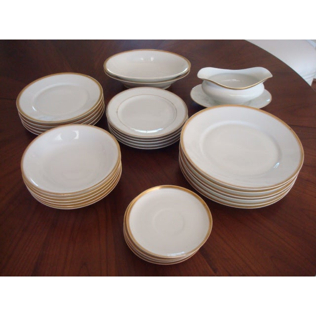 Gold And White Bavaria Dishes - Set of 30 - Image 2 of 11