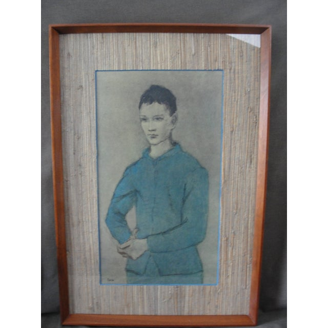 Figurative Vintage Lithograph Blue Boy by Pablo Picasso For Sale - Image 3 of 11