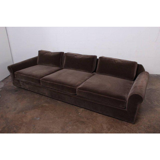 """Big Texan"" Sofa by Edward Wormley for Dunbar in Mohair - Image 3 of 10"