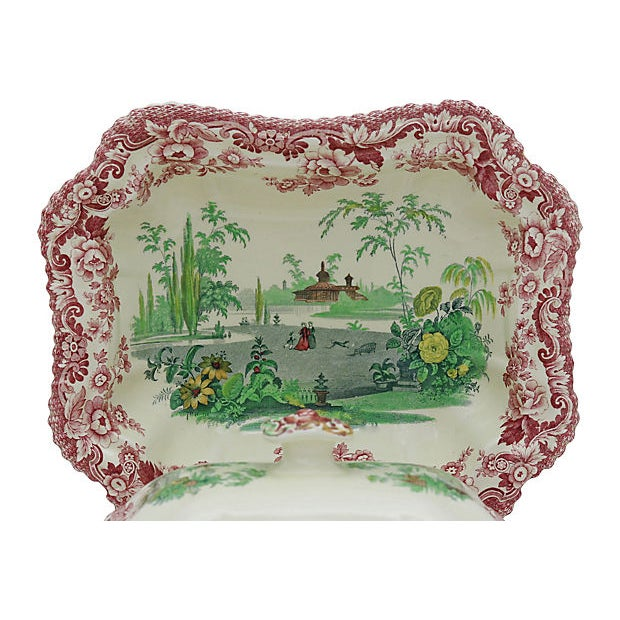 Late 19th Century Antique Copeland Spode Holiday Dinner Set For Sale - Image 5 of 8