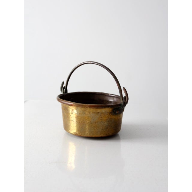 Antique Brass Plated Copper Pot - Image 2 of 8