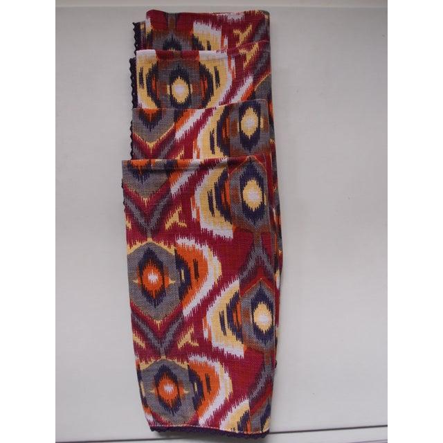 Plum Ikat Napkins - Set of 4 For Sale - Image 4 of 9