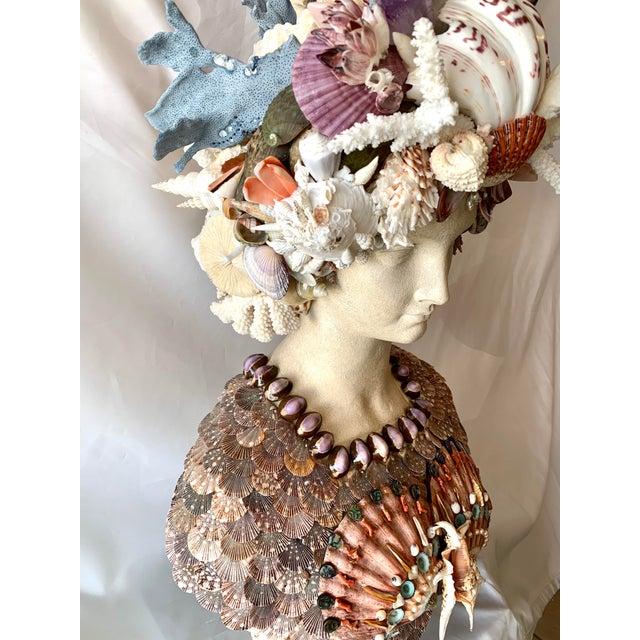 Contemporary La Sirena Seashell Bust For Sale - Image 3 of 11