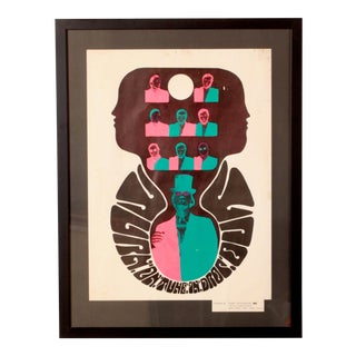 1960s Psychedelic Turn on Tune in Drop Out Framed Poster For Sale