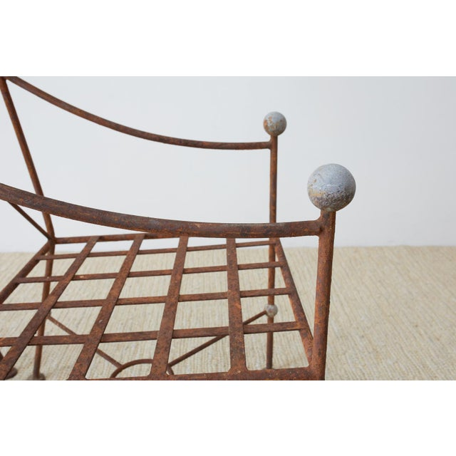 Set of Six Mario Papperzini for Salterini Style Garden Chairs For Sale In San Francisco - Image 6 of 13