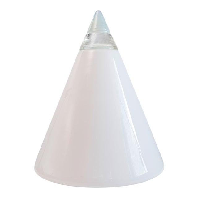 Final Markdown Murano Opaline Vetri Mid-Century Geometric Rio Lamp by Giusto Toso For Sale