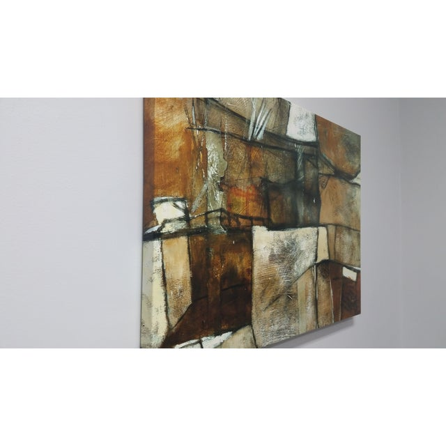 Brutalist Multi Brown Abstract by Martin Carbajal For Sale - Image 3 of 5